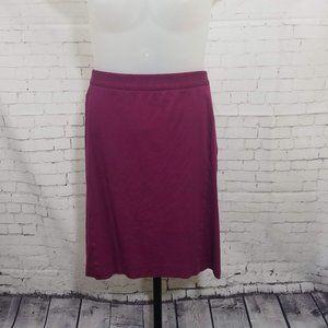 Lane Bryant Maroon Ponte Pencil Skirt
